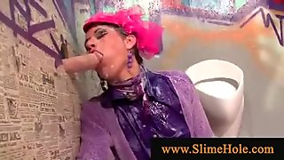 Dressed women love starpon and gloryhole