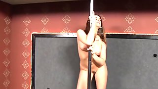 Chanel Preston sucks and fucks black gloryhole cock
