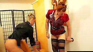 Hottest bukkake lesbians at gloryhole in high def