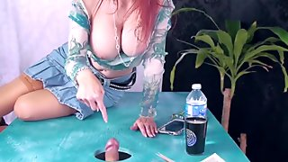Shanda Fay Sucks Cock Through Glory Hole For Cum!