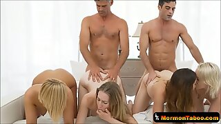 highly Taboo Mormon Cult Breeding Session