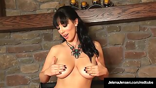 Busty Beauty, Jelena Jensen, Finger Bangs Her Juicy Pussy!