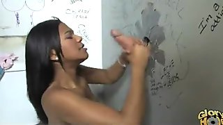 Gloryhole blowjob interracial amateur 13