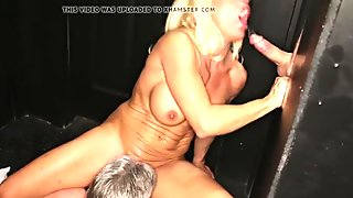 Crazy Whore Milf Sucks the cum right out of cocks