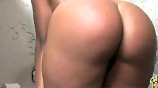 Gloryhole Ebony Girl Booty Shake and Suck 12