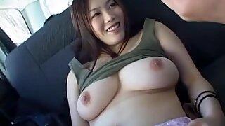 Subtitles korean big breast BBW play in car