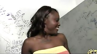 Black whore gloryhole initiating - video 9