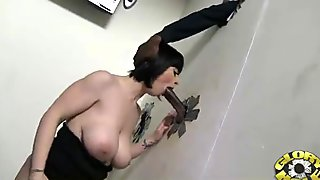 Horny girl loves mouthfuls of cum at GH 14