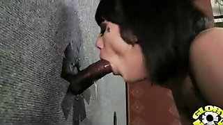 Gloryhole With A Nasty Wild White Girl Interracial 14