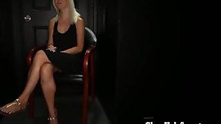 Gloryhole Secrets blonde loves hot cum loads