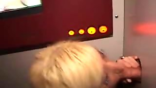 Dumb Blonde Amateur Blowjob And Facial At Glory Hole