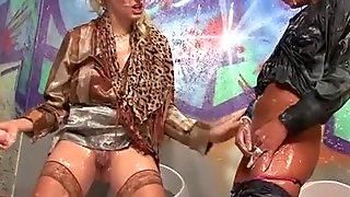 Cumshot loving schoolgirl visits a slimy gloryhole HD