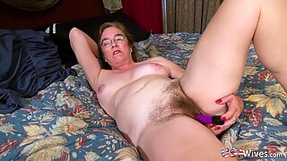 USA Wives Mature Carmen Hairy Pussy Solo Toying
