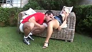 Sexy busty blonde lets him into her hole of glory