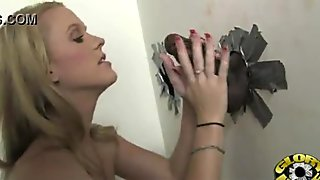 Gloryhole With A Nasty Wild White Girl Interracial 24