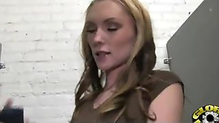 Hot couple having oral sex in gloryhole interracial 5