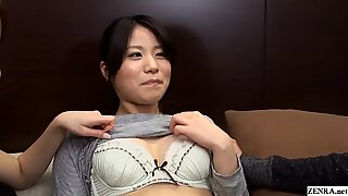 JAV stars with amateur in a CFNF lesbian threesome Subtitled
