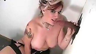 Candy Sucking Black Dick @ Gloryhole