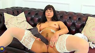 Mature beautiful mother with very hungry holes