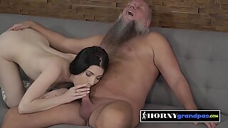 DIRTY old man POUNDS and BREEDS horny white PETITE