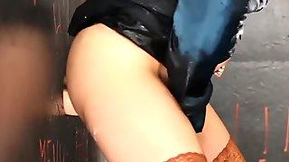 Glam fetish whore spunked
