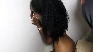 Petite Ebony Beauty Nice Ass Glory Hole Blowjobs