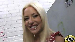 Ebony Slut Fucks A White Gloryhole Cock In Her First Interracial Scene 16